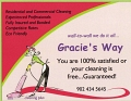 Gracie's Way cleaning plus... logo