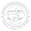 Pure Natural Newborn Photography logo